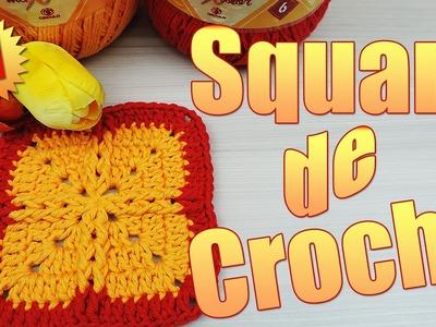 "Square de crochê #1  "" Soraia Bogossian"""