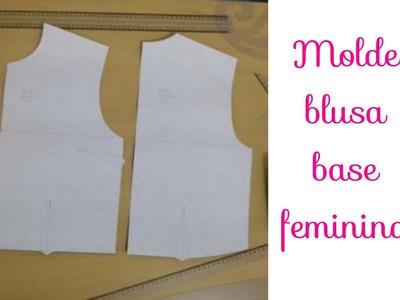 Aula 3:Modelagem da blusa base feminina(2° parte fina) # Corte, costura e modelagem com Elisa Crochê