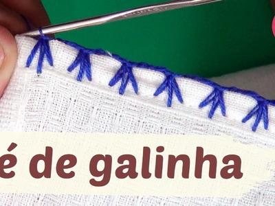 Caseado PÉ DE GALINHA em crochê