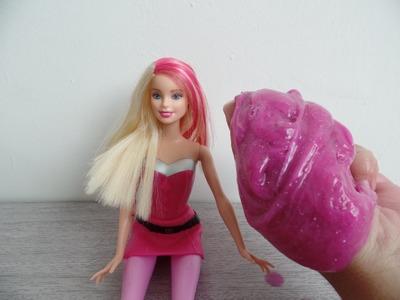 Como fazer Amoeba com sabão da Barbie! Sem bórax e sem Bicarbonato.