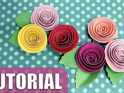 Como fazer flor de papel enroladinho