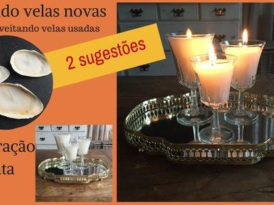 Como fazer velas lindas reaproveitando velas usadas