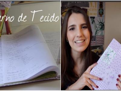 DIY: Caderno de Tecido