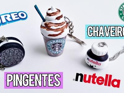 DIY: Chaveiros.Correntinhas de Nutella, Oreo & Starbucks