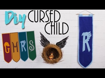 DIY: Harry Potter | Cursed Child - Bandeira das casas e pêndulo!