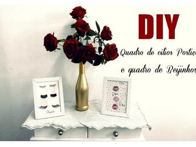 DIY: Quadro de Cílios postiços e de Beijos! #tarciasuelem