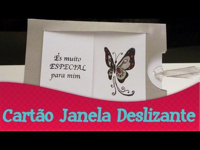 Cartão com Janela Deslizante   Terça do Cartão