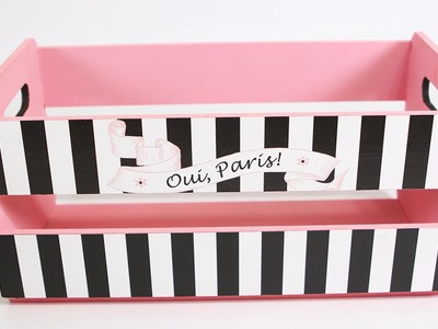 Como Fazer Caixote de Feira Decorado com Scrapdecor Paris