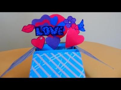 Como fazer Cartão Explosivo  -  Dia dos Namorados
