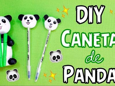 DIY - 3 IDEIAS de CANETAS DE PANDA - por Prih Gomes