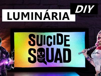 DIY Esquadrão Suicida Luminária Suicide Squad - Decoração Geek - Como fazer