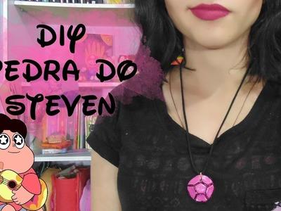 DIY - Pedra do Steven.Rose Quartz - Steven Universe | Suelen Candeu