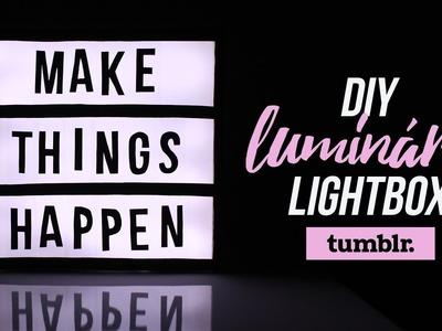 DIY | Tumblr Decor - Luminária Lightbox.Cinemabox