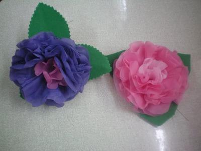 Flor de Plástico Lisolene - passo a passo