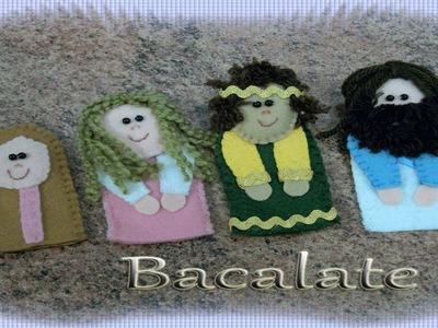 Artesanato DEDOCHES BÍBLICOS  JESUS, rei, mulheres - FELTRO CASEADO ponto palito - DIY Handmade