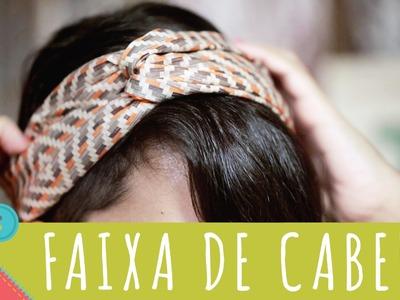 Como costurar faixa de cabelo passo a passo Descomplica!