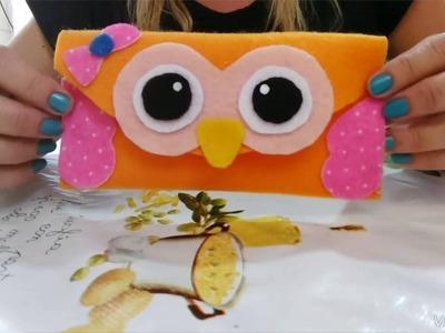 Como fazer capinha de celular de coruja em feltro faça você mesmo !