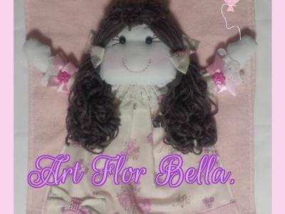 Desafio das artes (Toalhinha de boneca de pano 3D para Bebê Art Flor Bella.)