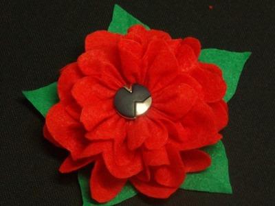 Flor de Feltro - Passo a Passo #2