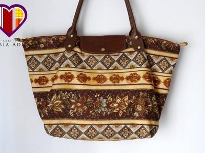 Bolsa sacola de tecidos Pietra - Maria Adna Ateliê - Cursos aulas e vendas de bolsas de tecido