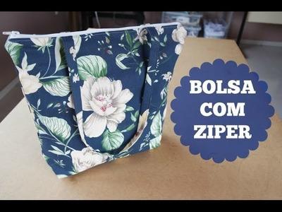Costurando: Bolsa com zíper simples