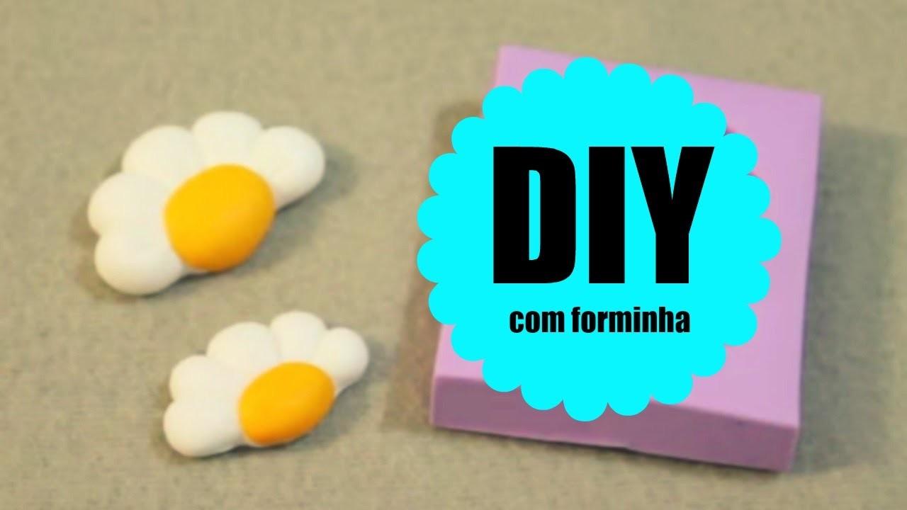 DIY - MEIA MARGARIDA COM FORMINHA - BISCUIT - POLYMER CLAY - TUTORIAL PASSO A PASSO