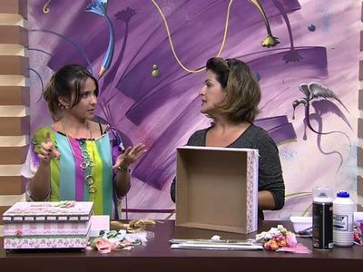 Mulher.com 20.02.2015 Marisa Magalhães - Caixa com scrap decor Parte 2.2