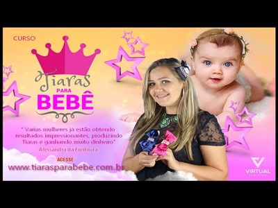 Tiaras para Bebês com Alessandra da Fontoura
