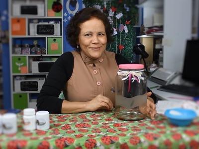 Ana Cláudia ensina: Fosqueamento em pote de vidro conserva