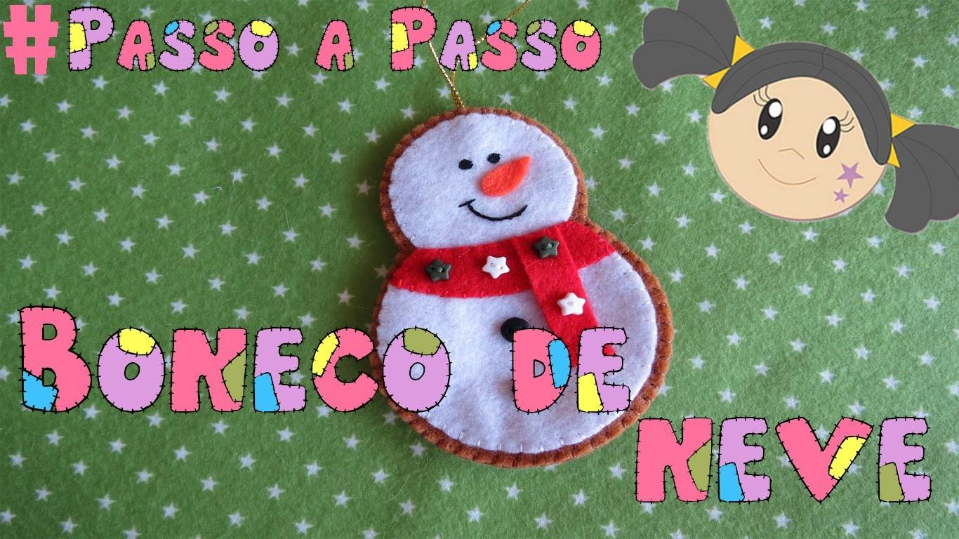 Boneco de Neve - Enfeite de Árvore de Natal