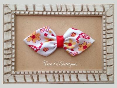 Laço de tecido feito à mão - Passo a Passo sem máquina - Fabric Bow