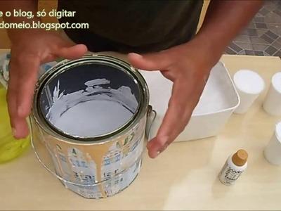 Medidas exatas para fazer tinta em quantidade. oatalaia