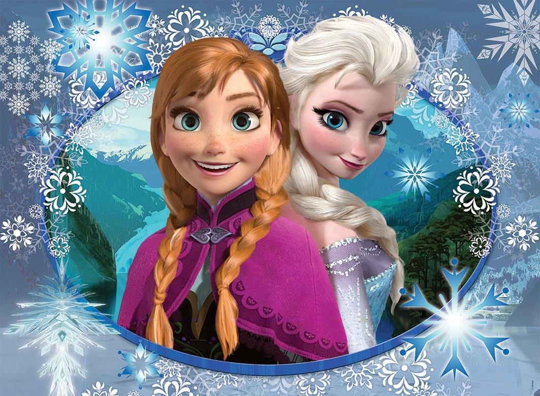 Princesas Frozen de feltro para a mesa do bolo #8 Mel 11 anos.