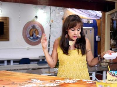 ADRIANA LEONEL - PINTURA RÁPIDA (FOLHAS E GALHOS) PASSO A PASSO