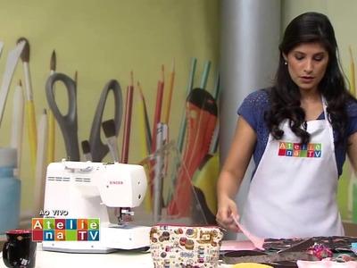 Bolsa Envelope Ateliê na TV - Gazeta 18.8.15  Camila Martins