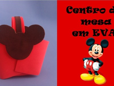 Centro de mesa do Mickey de EVA.