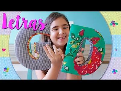 Letras decorativas - Dora Dorinha