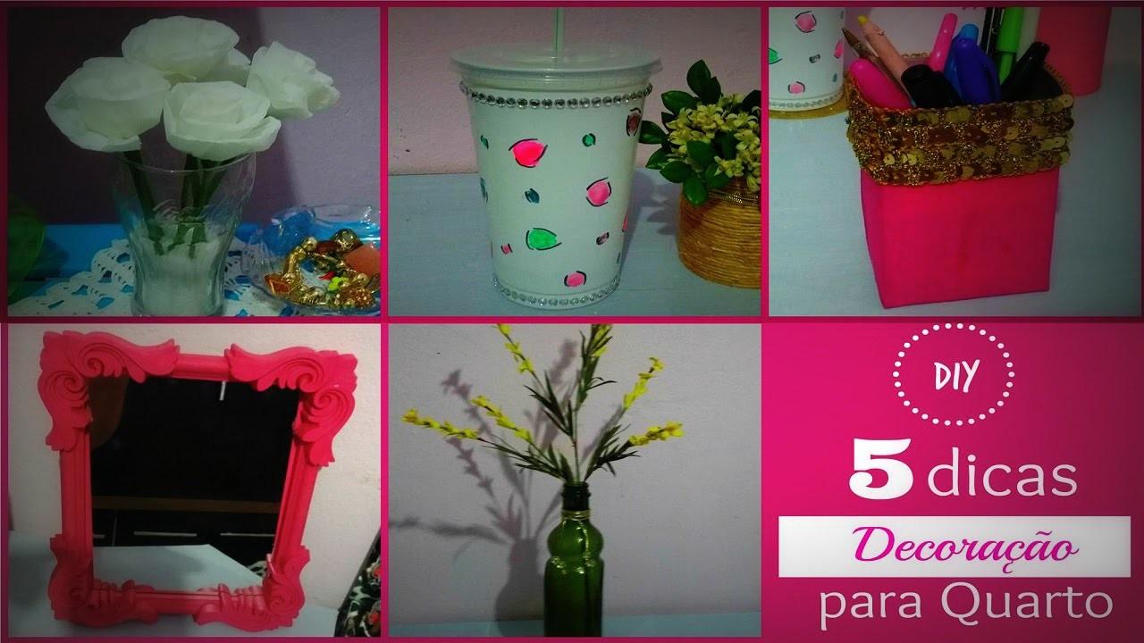 DIY │ 5 dicas decoração para quarto GASTANDO POUCO(room decor) - Cristiane Mendes