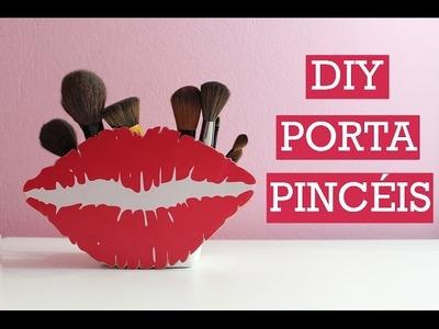 DIY - Porta pincéis de maquiagem. Natália Alves