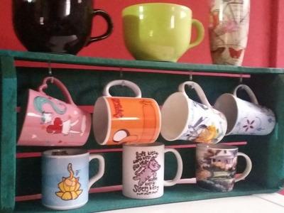 DIY - Porta-xícaras de caixote!!
