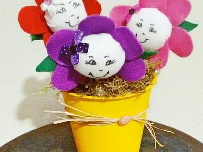 DIY - Vasinho feito com pote de iogurte