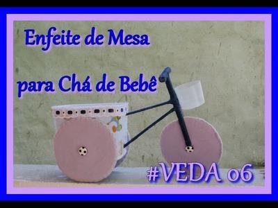 #VEDA 06 - DIY - Enfeite de Mesa para Chá de Bebê Bicicleta