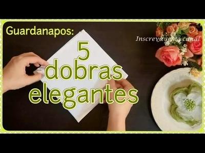 5 dobraduras elegantes de guardanapos para o seu jantar | Rumo ao Altar TV