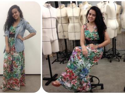 Aprenda a costurar vestido sem usar molde Alana Santos Blogger