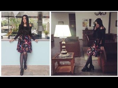 Faça você mesma sua saia godê Alana Santos Blogger