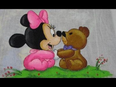 Pintura em tecido - Minnie baby
