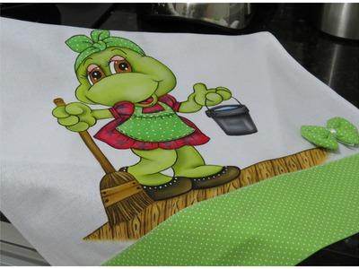 Pintura em tecido - Projeto Sapinha Secretária do Lar! Parte 3  Final