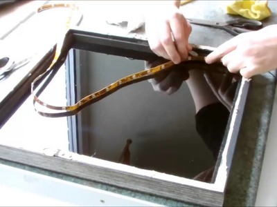 Como fazer um Espelho com sensação de profundidado com Luz de LED