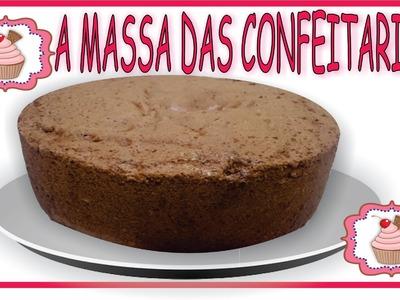 Bolo de Chocolate - Massa Chiffon ou Pão de Ló - 100% APROVADA POR CONFEITARIA REFINADA