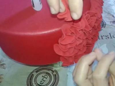 Como fazer efeito FRU FRU no bolo fake de Eva PAP